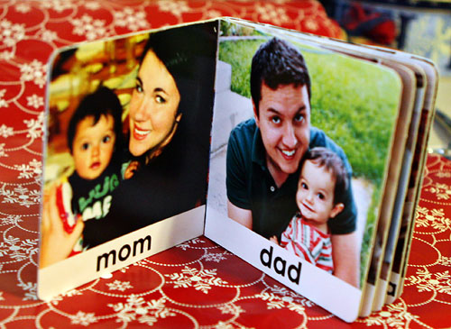 family photo board book
