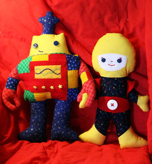 Spaceboy and Robot